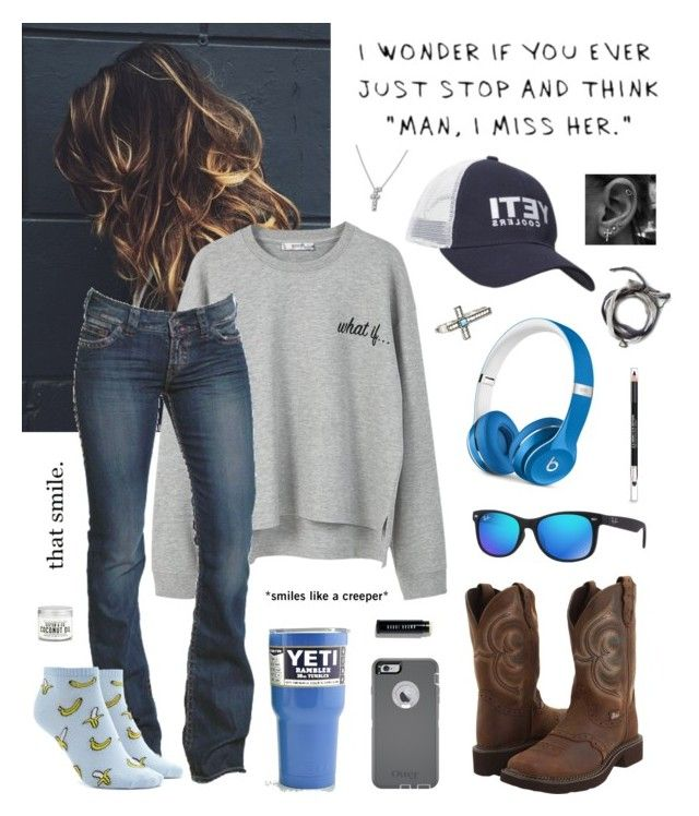 """""""So There's This Guy"""" by aw-hell-naw ❤ liked on Polyvore featuring GURU, MANGO, 1921, Justin, OtterBox, Ray-Ban, Beats by Dr. Dre, Forever 21, Wrangler and Bobbi Brown Cosmetics"""