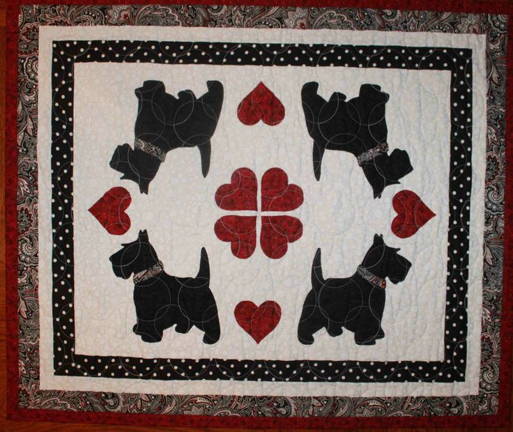 Quilt Pattern For Scottie Dog : 44 best images about Dog Quilts on Pinterest
