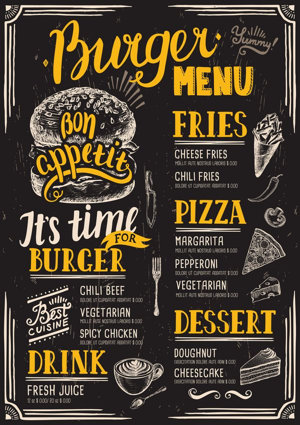 Vintage Burger-Menü-Vorlage-Vektor-Material 12 – EPS Datei Vintage Burger Menü Vorlage Vektor Material 12 kostenlos Name: Vintage Burger-Menü-Vorlage-Vektor-Material 12 Dateien Quelle: Zur Website Lizenz: Creative Commons (Attribution 3.0) Kategorien: Vektor-Cover, Vektor-Essen -Datei-Format: EPS – burger, menu, vintage