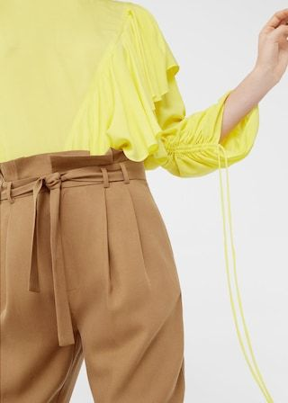 Tencel® cord trousers | MANGO