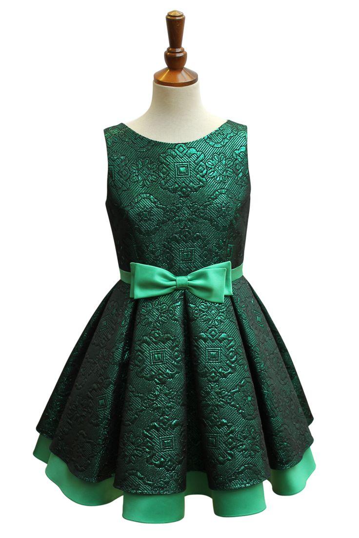 Magnificent Green Brocade Prom Dress   David Charles Childrens Wear