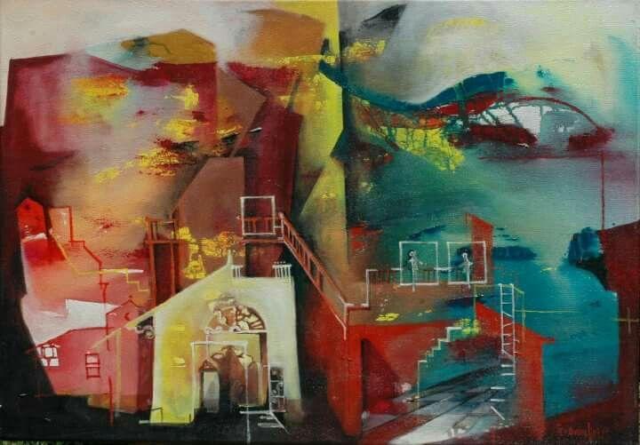 Acrílico abstracto Andrea franceschini
