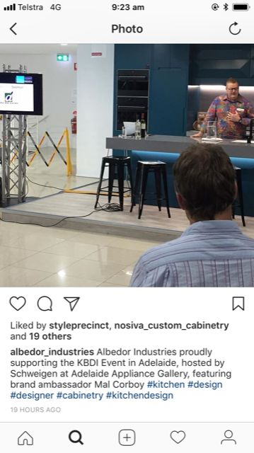 Albedor Industries proudly supporting the KBDI Event in Adelaide, hosted by Schweigen at Adelaide Appliance Gallery, featuring brand ambassador Mal Corboy.
