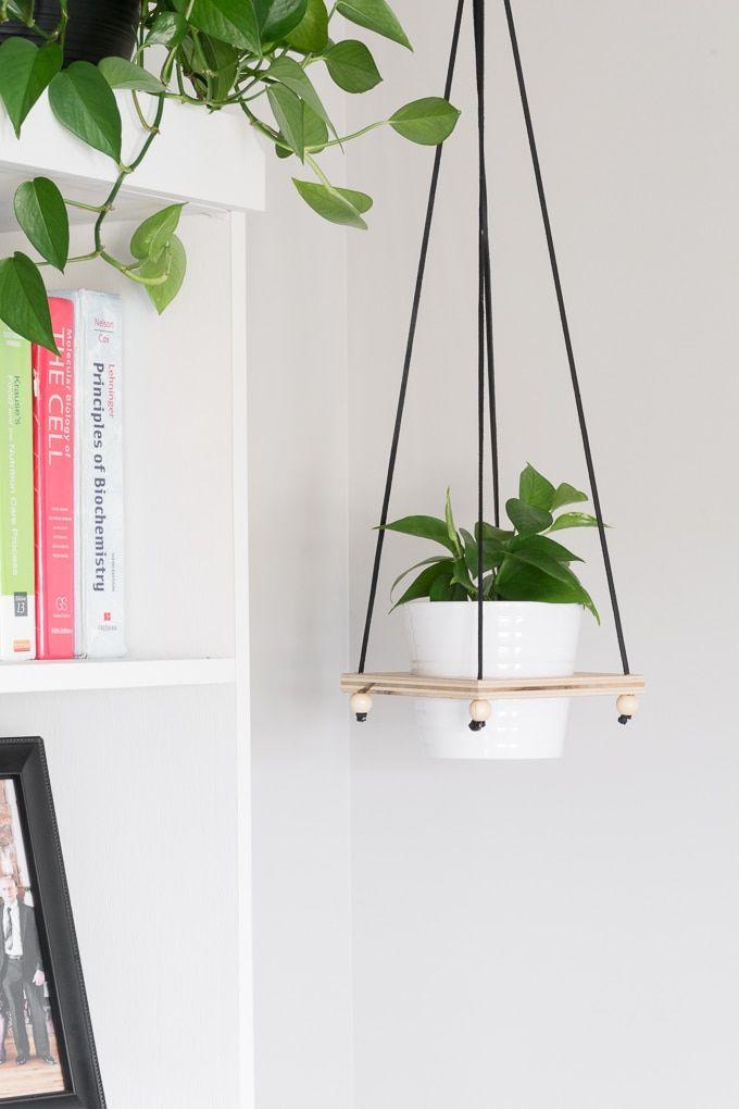 Diy Hanging Plant Holder Make A Wooden Hanging Plant Pot Holder