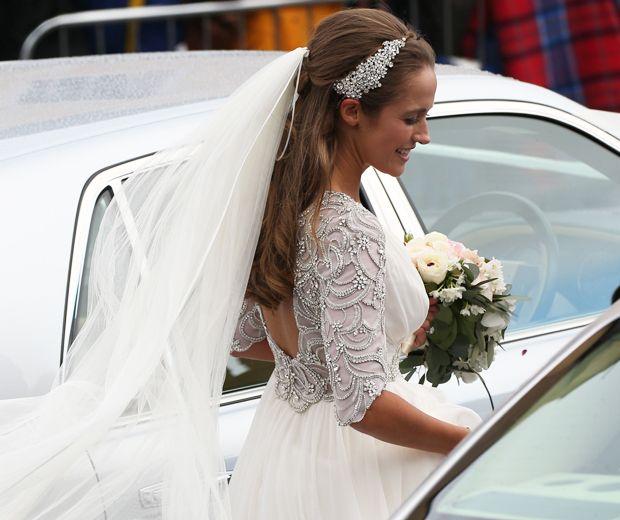 e6dee4eb18a3 Kim Sears Pulls A Kate Middleton On Her Wedding Day | Wedding Dresses I  Love | Wedding dresses, Wedding, Kate middleton wedding dress