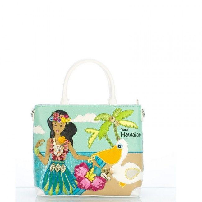 Borsa Braccialini Cartoline Hawaiian #borse #bags #handbags #cartoline