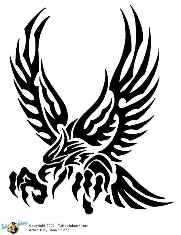 Best 25 tribal eagle tattoo ideas on pinterest crow for Freedom tribal tattoos