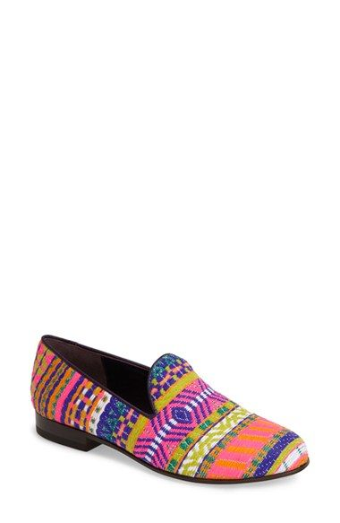 Free shipping and returns on CB Made in Italy Embroidered Flat Slipper (Women) at Nordstrom.com. Vibrant, multicolored embroidery textures a stylish slip-on edged in smooth leather piping.
