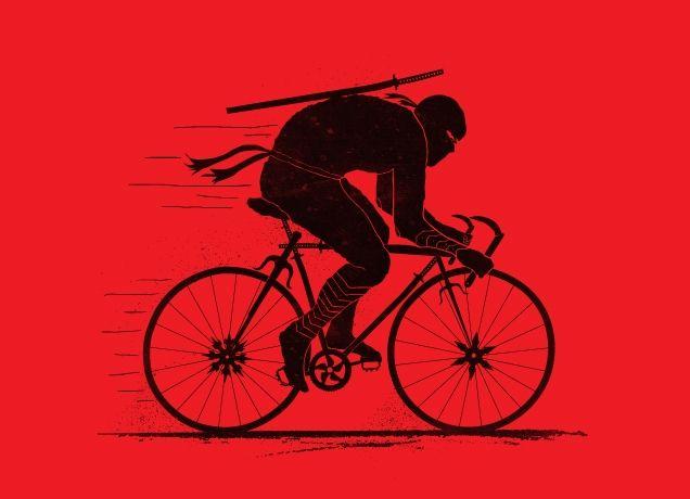 """Ninja Rider"" - Threadless.com - Best t-shirts in the world"
