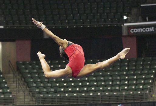 Podium training at the Pacific Rim Gymnastics Championships