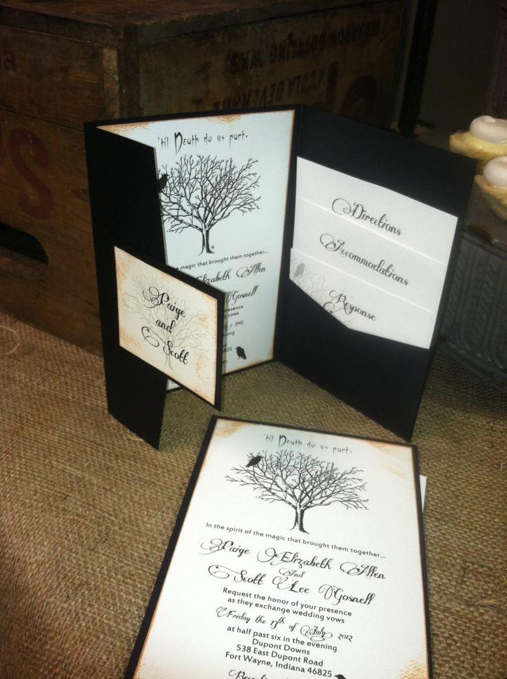 Till Death Do Us Part Goth Wedding by Kim Boyce Designs. $6.00, via Etsy.