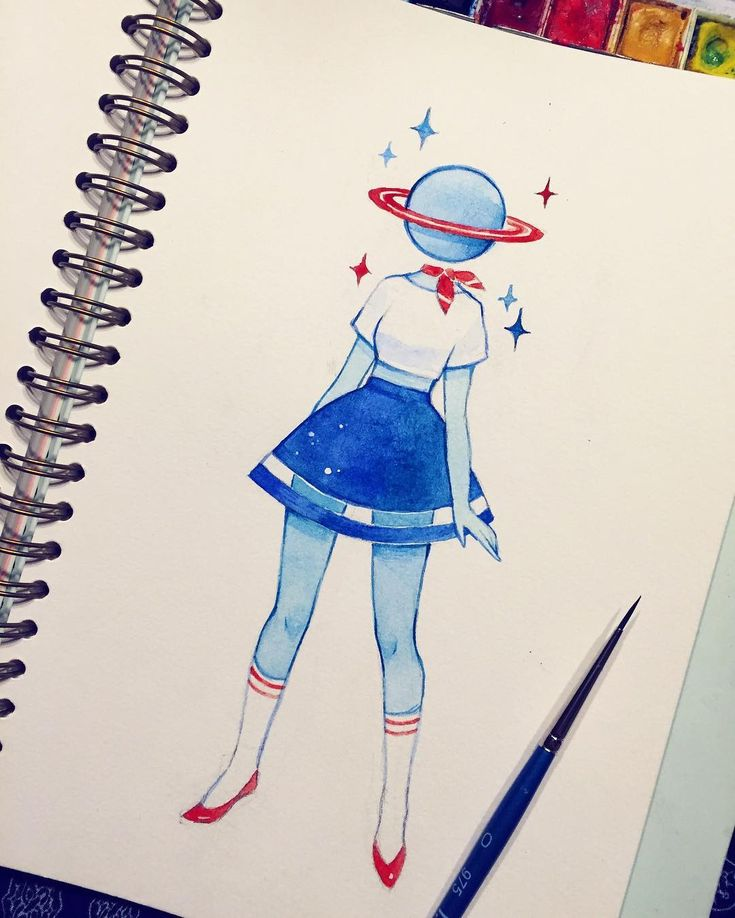 Space girl with a sailor aesthetic⚓️ I haven't posted in so long and I feel so lazy I've barely drawn at all this past week, booho