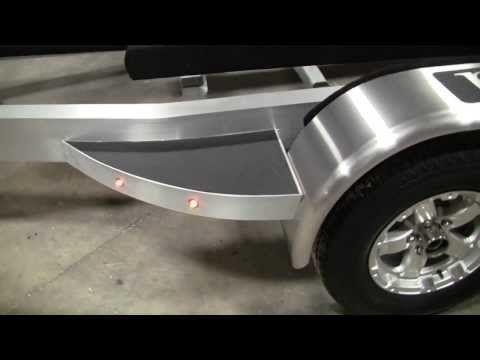 Sport Trail Custom Aluminum Trailer - 224 Blackjack Bay Boat - YouTube