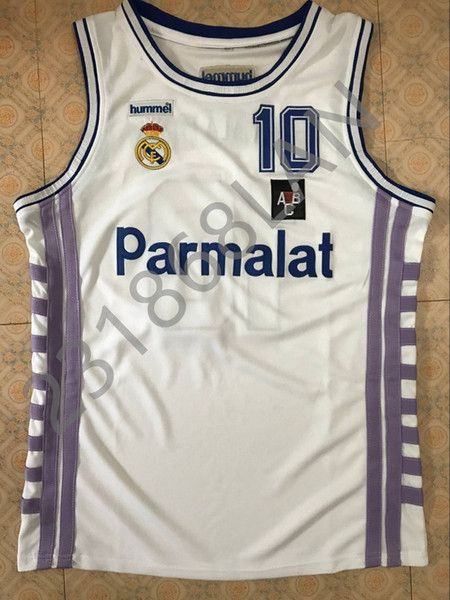619971fc8 2018 Drazen Petrovic Real Madrid Vintage Men S White Basketball Jersey  Embroidery Stitches Customize Any Size And Name From Vickylan23