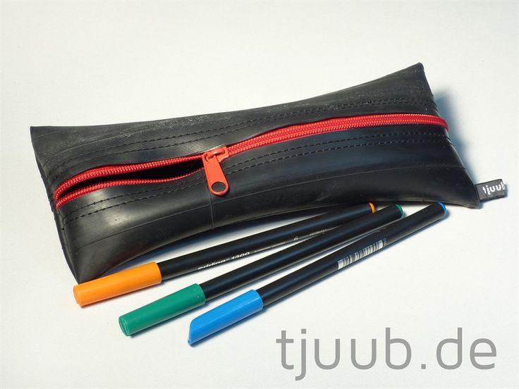 Etuis & Mäppchen - Federmäppchen - Schlampermäppchen Fahrradschlauch  - ein Designerstück von tjuub bei DaWanda