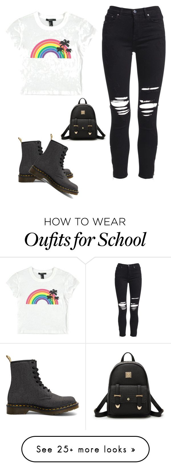 """Chill"" by jarrett-sophie on Polyvore featuring AMIRI, Forever 21 and Dr. Martens"