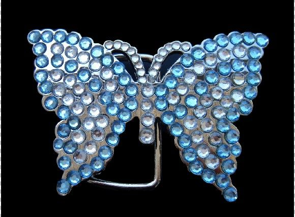 White Blue Rhinestone Flying Monarch Butterfly Butterflies #butterfly #butterflies #rhinestones #rhinestonebutterfly #glitter #butterflybuckles #beltbuckle #coolbuckles