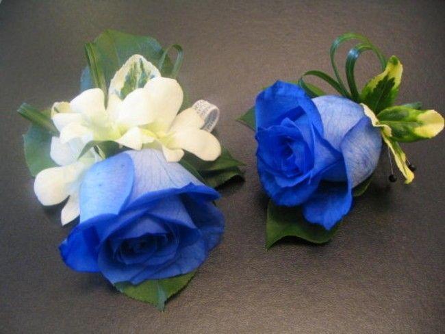 Boutonnière, rose bleue, fleurs naturelles, mariage, Le jardin d'Andrée-Anne, www.lejardin.ca