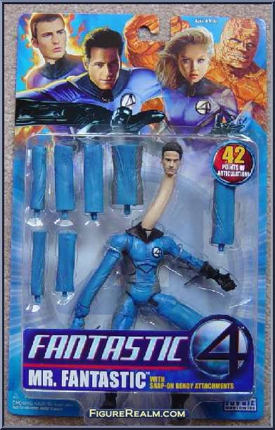 Mr. Fantastic (Bendy Attachments) from Fantastic Four - Movie - Series 1 manufactured by Toy Biz [Front]