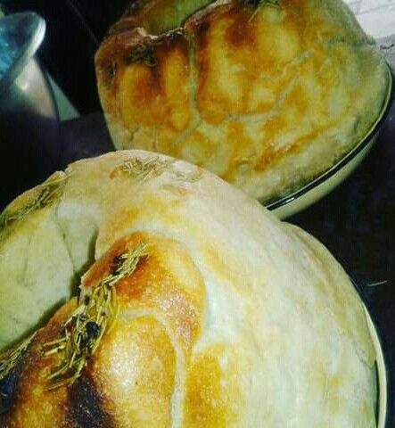 Garlic and rosemary bread to complement a braai.