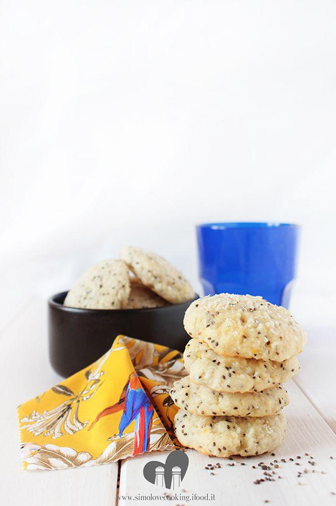 biscotti cocco limone e semi di chia