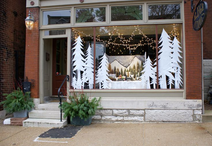 white trees really stand out - could recreate look of papercut illustration
