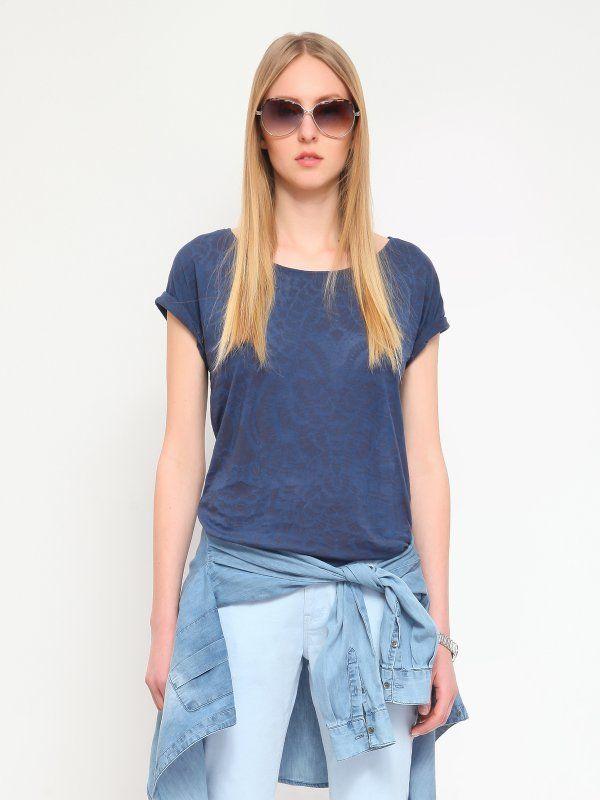 W2017 T-shirt damski szary  - t-shirt krótki rękaw - TOP SECRET. SPO2572 Świetna jakość, rewelacyjna cena, modny krój. Idealnie podkreśli atuty Twojej figury. Obejrzyj też inne t-shirty tej marki.
