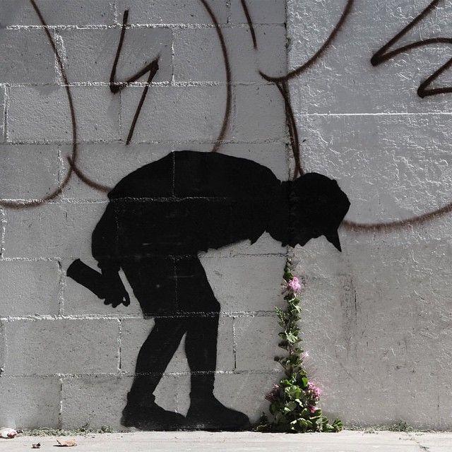 street art by Banksy