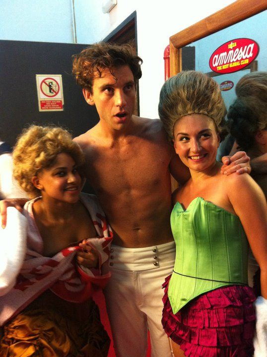 Mika and Cherisse and iMMa backstage in Ibiza 2011