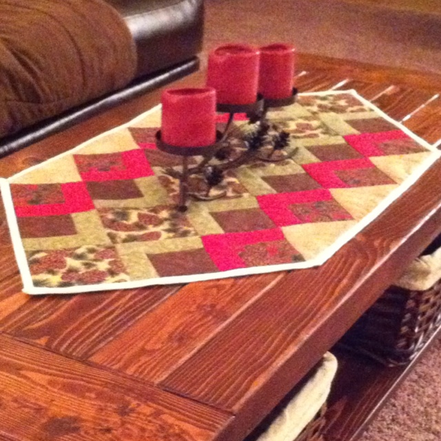 pine cone coffee table runner tableside pinterest