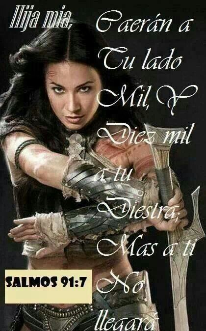 """Caerán a tu lado  mil, y diez mi a tu diestra;Ma a tí no llegará""...Salmos 91:7 Jesus es mi Fortaleza"