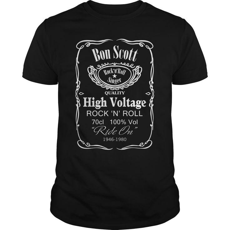 Bon Scott Quality High Voltage T shirt.