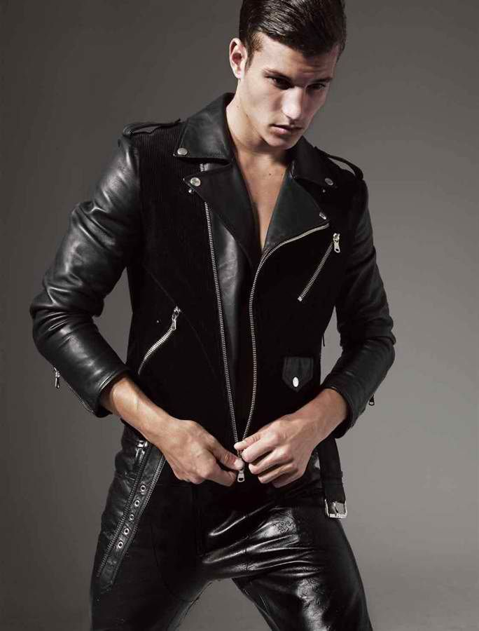 Blk Dnm Leather Jacket