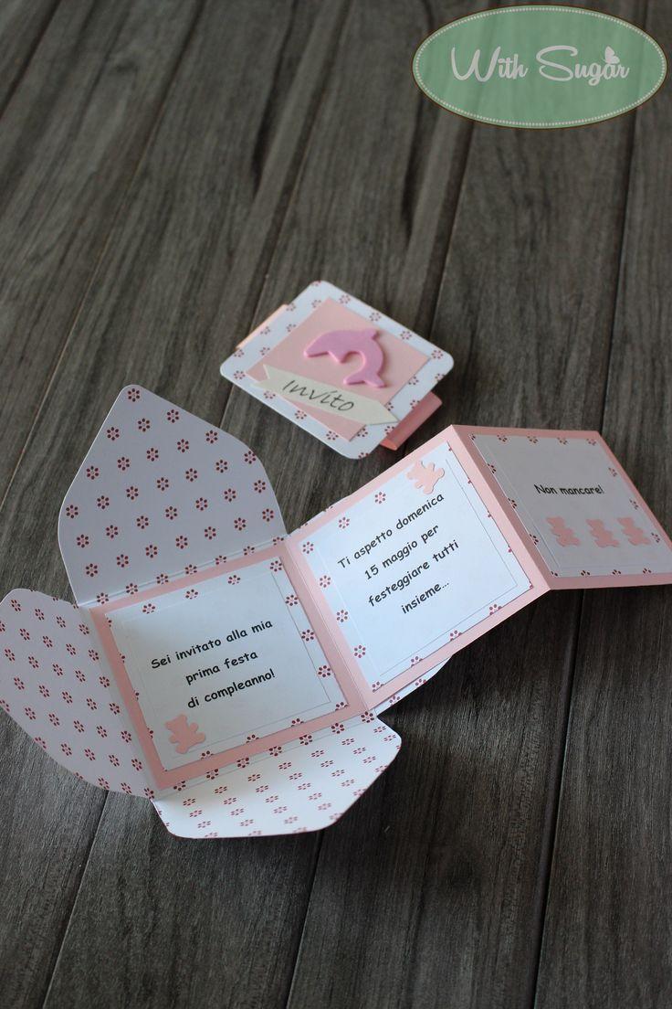 Invito per Battesimo Bimba - Handmade Card