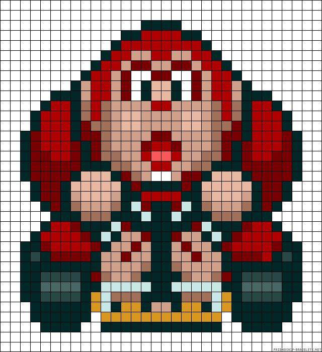 Mario Kart Donkey Kong perler bead pattern