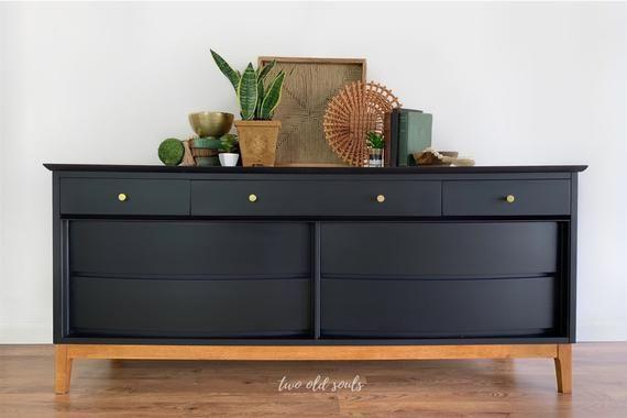 Vintage Mid Century Modern Dresser Dixie 7 Drawer Lowboy Etsy Mid Century Modern Dresser Home Decor Kitchen Furniture