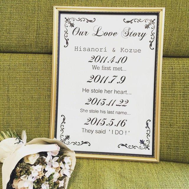 【DIY】ウェルカムスペースで記念日をお披露目*ふたりの『ラブストーリー』を作ろう♡   marry[マリー]