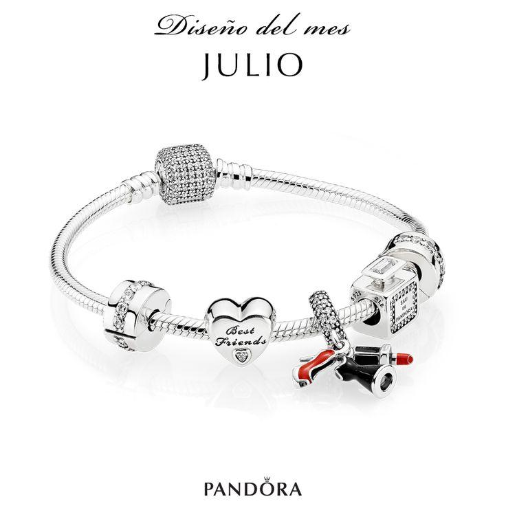 Os dejamos con el diseño para Julio de PANDORA, una combinación en plata con charms esmaltados y circonitas cúbicas. Elige tus charms favoritos em http://www.todo-relojes.com/complementos.asp?tipo=13 #joyasPandora #charmsplata #todorelojes