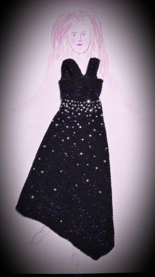 11. šaty - vlastnoruční výroba, nosí je naše Barbie