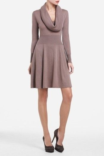 I have had this BCBG sweater dress for a couple of years and wear it in the winter months.  It needs a belt to give it a fresh look.