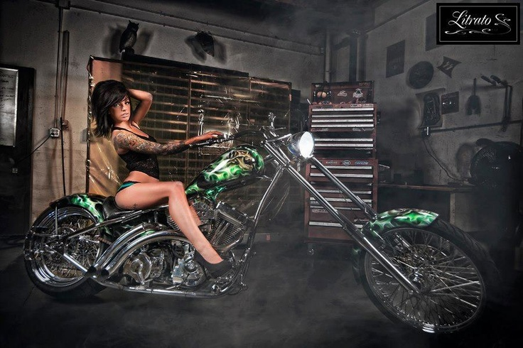 Faye manages a custom motorcycle shop!