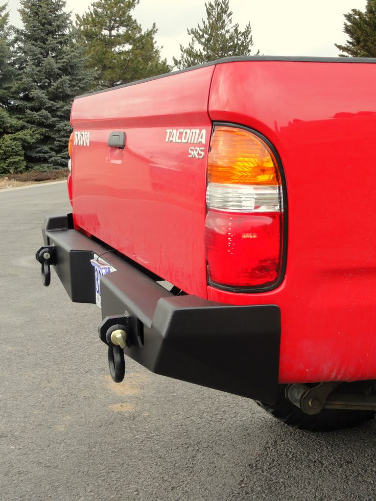 Relentless Fab. '96-2004 Tacoma Rear plate bumper