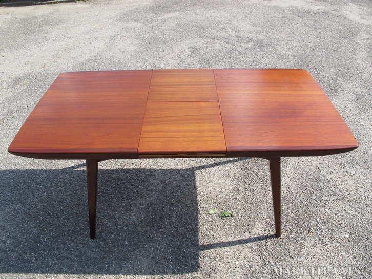 Vintage 6 persoons eethoektafel louis van for Replica design meubelen
