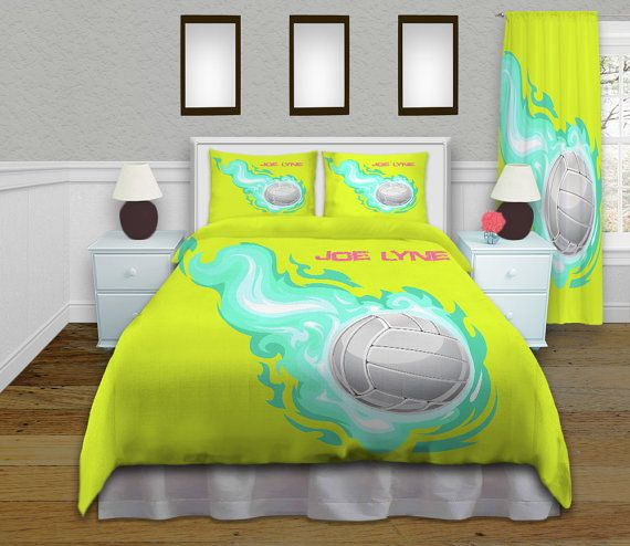 volleyball bedding have it personalized with name and number i can even change background