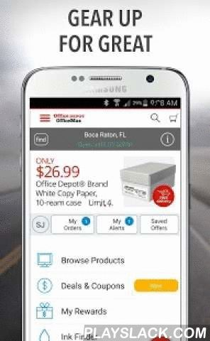 Office Depot®- Rewards & Deals  Android App - playslack.com ,  The Office Depot® app offers you a smarter way to shop for office supplies and technology while saving time  and money.• Our Android application makes shopping from Office Depot fast and easy from anywhere you are located!• The shopping cart, order history, and account information are synchronized acrossall screens.• Browse for products, find availability at our stores, find a store, click to call, and get map…