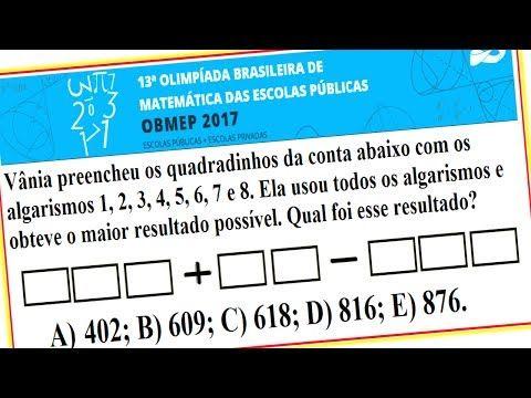 Gabarito da obmep 2017, Impa, Instituto de Matemática Pura e Aplicada, SBM, SOCIEDADE BRASILEIRA DE MATEMÁTICA, MINISTÉRIO DA CIÊNCIA TECNOLOGIA INOVAÇÕES E COMUNICAÇÕES, MINISTÉRIO DA EDUCAÇÃO, BRASIL.  VOCÊ CONSEGUE RESOLVER ISSO? DESAFIO MATEMÁTICO.  Assista à vídeoaula, com a resposta em resolução comentada, passo a passo, desta questão resolvida no link (endereço): https://youtu.be/b3KLALErixo