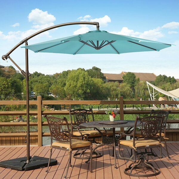 Karr 10 Cantilever Umbrella Bestumbrella Karr 10 Cantilever Umbrella Reviews Joss Main In 2020 Patio Umbrella Patio Cantilever Umbrella