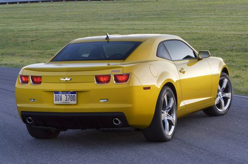 2010 Chevrolet Camaro coupe yellow