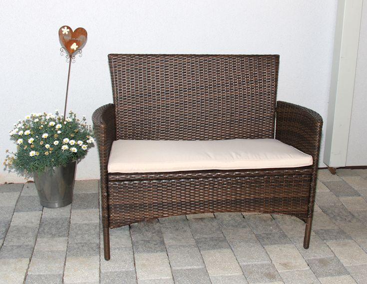 13 besten rattan gartenbank bilder auf pinterest. Black Bedroom Furniture Sets. Home Design Ideas
