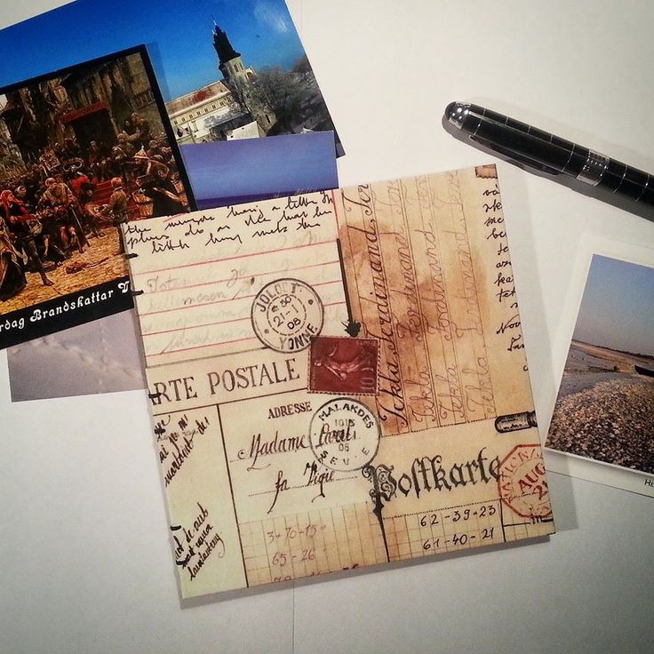 Postcrossing inspired notebook by Green Dragon Books https://www.facebook.com/GreenDragonBooks